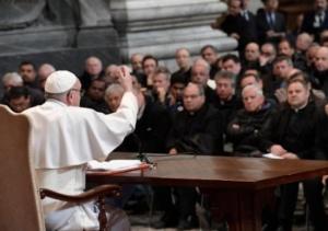 Papa FRancesco e i parroci R°