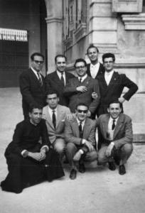 1959 - Consiglio diocesano. In piedi da sx:: Garofalo, Gerardi, Bianco, De Leo, Milone. Accosciati: Cutrupia, Gambadoro, Faraone, Majolino.
