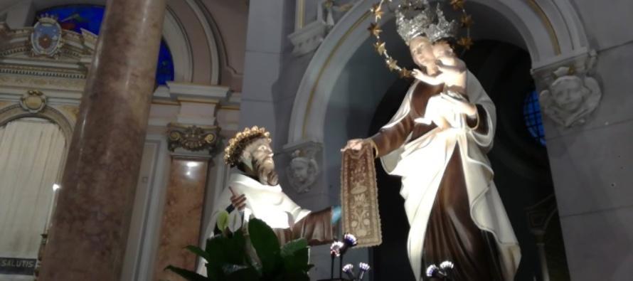 MESSINA – Festività Madonna del Carmine, celebrazione nel Santuario – Parrocchia alla presenza dell'Arcivescovo mons. Giovanni Accolla