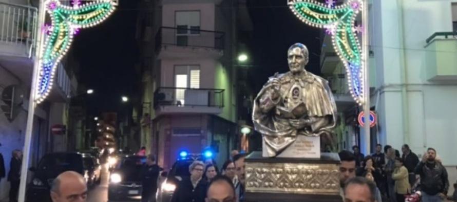 Il reliquiario di S. Annibale accolto ad Acquaviva delle Fonti con grande entusiasmo