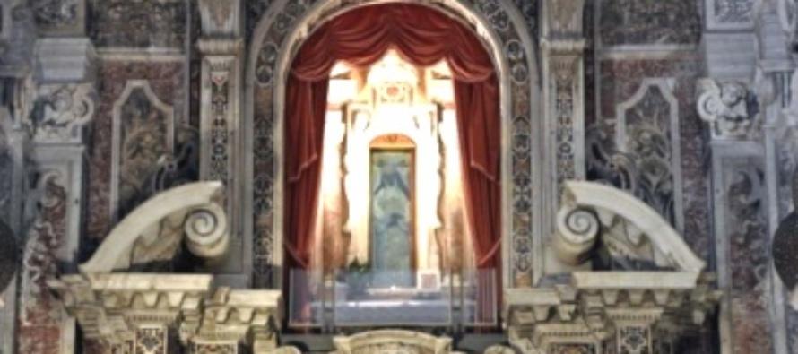 """MESSINA – Montevergine, celebrato solennemente il 534° """"Dies Natalis"""" di S. Eustochia Smeralda. Atto di affidamento della città alla Santa. Accesa Lampada votiva."""